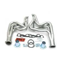 "Headers and Exhaust Manifolds - Dougs Headers - Doug's Headers - Doug's Headers 2"" 4-Tube Full Length Round Port Headers Pontiac GTO 400-455 68-72 NON AC ONLY Metallic Ceramic Coating DHE-D522"