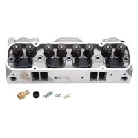 Cylinder Heads - Edelbrock - Edelbrock Round Port Pontiac 72cc Cylinder Heads, Fast-Burn CNC Chambers, Hyd. Roller (Pair) EDL-61515-2