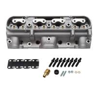 Cylinder Heads - BP/Edelbrock D Port Cylinder Heads (Out-of-the-Box) - Edelbrock - Edelbrock 65cc Aluminum D Port Bare Pontiac Cylinder Heads, As Cast Chambers (Pair) EDL-61539-2