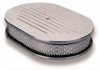 Air/Fuel - Air Cleaners/Filters - Holley - Holley Billet Oval Air Cleaner HLY-120-141