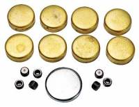 Engines, Blocks, & Engine Kits - Freeze Plugs & Block Acc. - Melling - Melling Pontiac Brass Freeze Plug Kit - Block MEL-MPE-115BR