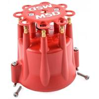 Ignition/Electrical - Accessories- Caps, Wire Looms, Etc - MSD Performance - MSD/GM Distributor Cap - HEI Terminals, Red MSD-8433