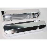 Valve Covers, Breathers, Oil Fill Caps - Valve Covers - PRW - PRW Pontiac Aluminum Valve Covers- Polished / 3 ¼ Tall (Set) PRW-4045511