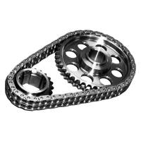 Rollmaster - Rollmaster Pontiac Red Series Pro Billet Timing Set, Iwis Chain, Standard, ROL-CS-7050