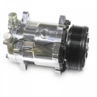 March Performance - March A/C Compressor (Polished) w/Serpentine Pulley MAR-P410