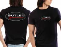 Apparel, Decals, Books, Gift Cards - Shirts - Butler Performance - Butler Black Carbon Fiber Logo T-Shirt, Small-4XL BPI-TS-BP1601