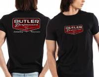 Apparel, Decals, Books, Gift Cards - Shirts - Butler Performance - Butler Black Retro Logo T-Shirt, Small-4XL BPI-TS-BP1602