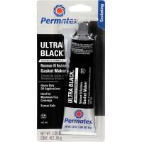 Gaskets - Sealers - Permatex - Permatex Ultra Black Silicon Sealer, Max Oil Restance PER-82180
