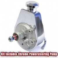 """March Performance - March """"Style Track"""" Alternator and Power Steering Only Serpentine All Inclusive Kit, Chrome, Pontiac 326-455c.i., MAR-13145 - Image 3"""