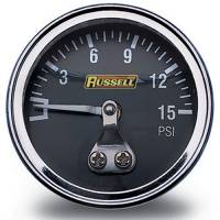 Fittings - Misc. Fittings & Guages - Russell - Russell Fuel Pressure Gauge, 0-15 psi RUS-650330