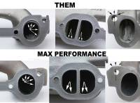Max Manifolds - Max Manifolds Pontiac 1964-67 GTO/LeMans/Tempest Ram Air D-port Exhaust Manifolds w/ High Temp Paint, 2.5 Oversized Exhaust Outlets (Set) MPE-RPE650H - Image 5