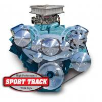 "Pulleys & Serpentine Belt Systems - March ""Sport Track"" Serpentine Systems - March Performance - March ""Sport Track Ultra"" Serpentine System Kit, '67-69 FB, w/Power Steering, Clear, Black, Onyx, or Chrome MAR-13225"