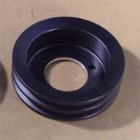 Pulleys & Serpentine Belt Systems - Pulleys- V-Belt - Ram Air Restorations - RAR Pontiac Underdriven 2 Groove 4 Bolt Crankshaft Pulley 1971-78- Black Powdercoat RAR-PUC4B