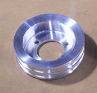 Ram Air Restorations - Pontiac Underdriven 2 Groove 4 Bolt Crankshaft Pulley 1971-78- Polished RAR-PUC-4C