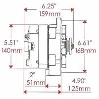 Power Master - Powermaster GM 12SI 140 amp 1 wire Black Alternator POW-57293 - Image 2