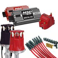 Ignition/Electrical - Distributors/Crank Triggers - MSD Performance - Complete MSD Ignition Kit, Dist, Wires, Coil, and Ignition, Red or Black MSD-KIT