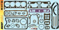 Gaskets - Overhaul Gasket Set - Best Gasket - Best Gasket Complete Engine Gasket Kit, w/ Rear Main Rope Seal Pontiac 1958-60 370-389 BGA-RS617SA