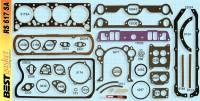 Gaskets - Overhaul Gasket Set - Best Gasket - Best Gasket Complete Engine Gasket Kit,w/ Rear Main Rope SealPontiac 1958-60 370-389 BGA-RS617SA