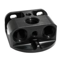 Oil Pans, Evac Kits, & Oil Accessories - Oil System Components - Moroso - Moroso Aluminum Remote Oil Filter Bracket, Front-Line, Black MOR-23764