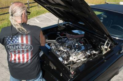 64 Catalina 2+2 with 800hp BP 535 IAII on Pump Gas Cover