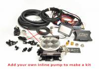 F.A.S.T. EFI SYSTEMS - SELF TUNING EFI - EZ-EFI • EZ-EFI 2.0 - F.A.S.T. - FAST EZ-Fuel EFI Injection System Base Kit (EZ-EFI 1.0), w/4150 Black Anodized TB, w/Handheld FAS-30227-06KIT-NP (In-Line System with Pump Delete)