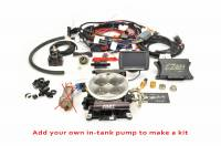 F.A.S.T. EFI SYSTEMS - SELF TUNING EFI - EZ-EFI • EZ-EFI 2.0 - F.A.S.T. - FAST EZ-Fuel EFI Injection System Base Kit (EZ-EFI 1.0), w/4150 Black Anodized TB, w/Handheld FAS-30447-06KIT-NP (In-Tank System pump delete)