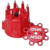 MSD Performance - MSD/GM Distributor Cap - HEI Terminals, Red MSD-8433
