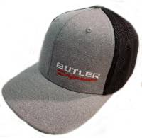 Apparel, Decals, Books, Gift Cards - Hats - Butler Performance - Butler Performance 2-Tone Hat, Grey/Black, (Flexfit),BPI-HAT-6311-BKGR
