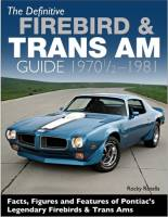 Apparel, Decals, Books, Gift Cards - Books - Butler Performance - Definitive Firebird & Trans AM Guide 1970 1/2-1981 by Rocky Rotella BPI-CT591