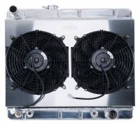 Cooling System Components - Radiators - Cold Case - Cold Case 64-67 Pontiac GTO Super Duty Aluminum RadiatorShroud Fan KitW/O AC, AT & MT  CCR-GPG34ASK