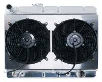 Cooling System Components - Radiators - Cold Case - Cold Case 64-67 Pontiac GTO Super Duty Aluminum Radiator Shroud Fan Kit AC, AT or MT  CCR-GPG38ASK