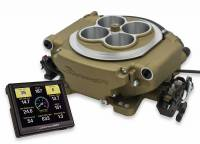 HolleyEFI SYSTEMS - Holley Sniper EFI Systems - Holley - Holley Sniper EFI Self-Tuning kit + handheld EFI monitor- Classic GoldFinish HLY-550-516