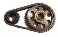 Camshaft & Valvetrain Components - Timing Chains and Sets - Butler Performance - Butler Pro Billet Pontiac Timing Set Billet Gears 9 Keyway Crank Sprocket .005 Short