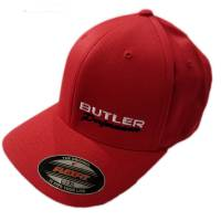 Apparel, Decals, Books, Gift Cards - Hats - Butler Performance - Butler Performance Hat, Red, (Flexfit), BPI-HAT-6277-RD