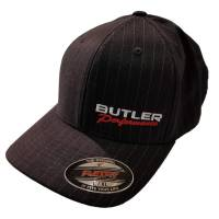 Apparel, Decals, Books, Gift Cards - Hats - Butler Performance - Butler Performance Hat, Black, w/ Pinstripe (Flexfit), BPI-HAT-6195P-BK