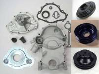 Cooling System Components - Water Pumps - Butler Performance - Butler Performance 8-Bolt to 11-Bolt Timing Cover Conversion Kit w/High Flow Water Pump, Pulley, Balancer, and Crank Pulley