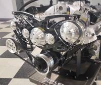 """March Performance - March """"Style Track"""" Alternator and Power Steering Only Serpentine All Inclusive Kit, Black Onyx, Pontiac 326-455c.i., MAR-13145-07 - Image 3"""