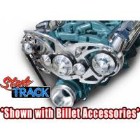"""March Performance - March """"Style Track"""" Alternator and Power Steering Only Serpentine All Inclusive Kit, Black Onyx, Pontiac 326-455c.i., MAR-13145-07 - Image 5"""