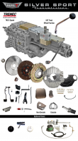 SST - 64-67 GTO/LeMans, A-Body, SST Tremec Perfect-Fit 5 Speed TKO 600 Transmission Kit, Auto to TKO