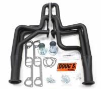 "Doug's Headers - Doug's Headers 1 3/4"" 4-Tube Full Length D-Port Headers Pontiac GTO/Lemans/Tempest  (A-body) 326-455 64-67 Black DHE-D564B"