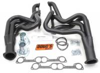 "Doug's Headers - Doug's Headers 2"" 4-Tube Full Length Round Port Headers Pontiac GTO 400-455 68-72 NON AC ONLY Black DHE-D522B"