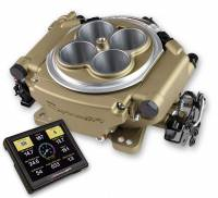 Holley - Holley Sniper EFI 4150 Super Sniper 650,w/ handheld EFI monitor, Classic Gold Finish - Image 2