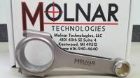 """Molnar - Molnar 4340 Forged H-Beam Rods, 6.800"""", 2.200"""" RJ, ARP2000"""