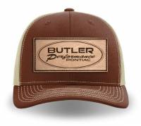 Apparel, Decals, Books, Gift Cards - Hats - Butler Performance - Butler Performance Pontiac Patch Hat, Brown/Khaki Adjustable