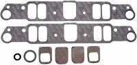 Gaskets - Intake Manifold Gaskets - Edelbrock - Edelbrock Pontiac Standard Intake Gasket / Includes Heat X-Over Block Off  (Set) EDL-7280