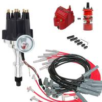 Ignition/Electrical - Distributors/Crank Triggers - Butler Performance - Complete TSP Ready to Run Ignition Kit, Dist, Wires, Coil Red or Black TSP-KIT-JM7704BK