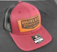 Apparel, Decals, Books, Gift Cards - Hats - Butler Performance - Butler Retro Patch Hat, Maroon/Black Adjustable