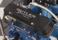 Butler Performance - Pontiac Custom Fab Aluminum Valve Covers, EVAC Baffle Installed, Black Powder Coated, Choose Your Options (Set)BFA-VC-BK-EVAC - Image 2