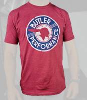 Apparel, Decals, Books, Gift Cards - Shirts/Hoodies - Butler Performance - Butler Vintage Service T-Shirt, Red, Small-4XL BPI-TS-BP1607