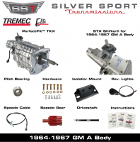 Transmissions - Tremec Transmission Kits by SST - SST - 64-67 GTO/LeMans, A-Body, SST Tremec Perfect-Fit 5 Speed TKX Transmission Kit, Manual to TKX